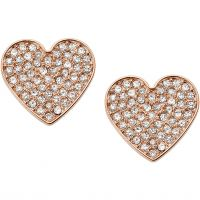 Biżuteria damska Fossil Jewellery Vintage Glitz Heart Earrings JF02676791
