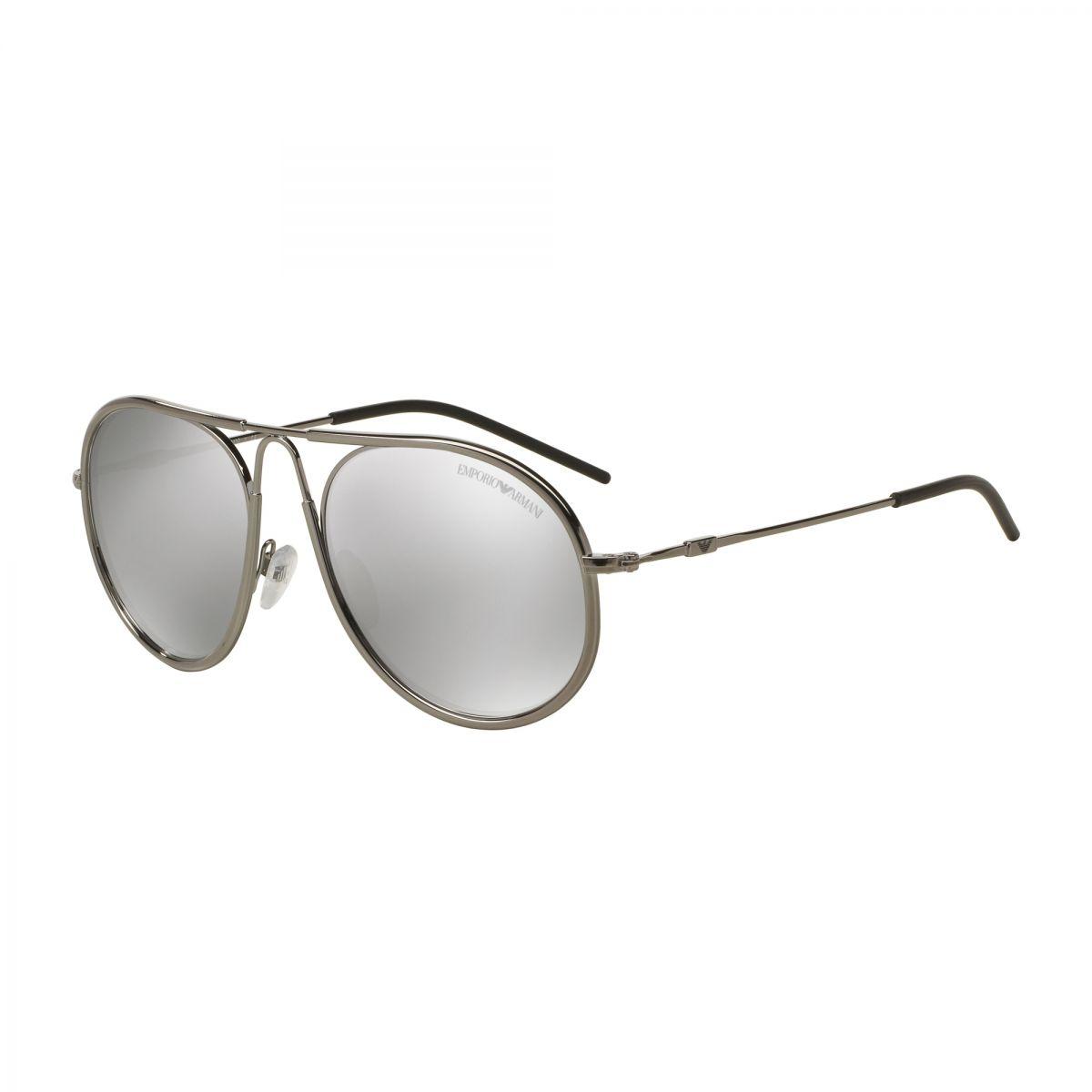 Emporio Armani Herren Sonnenbrille » EA2034«, grau, 30106G - grau/silber