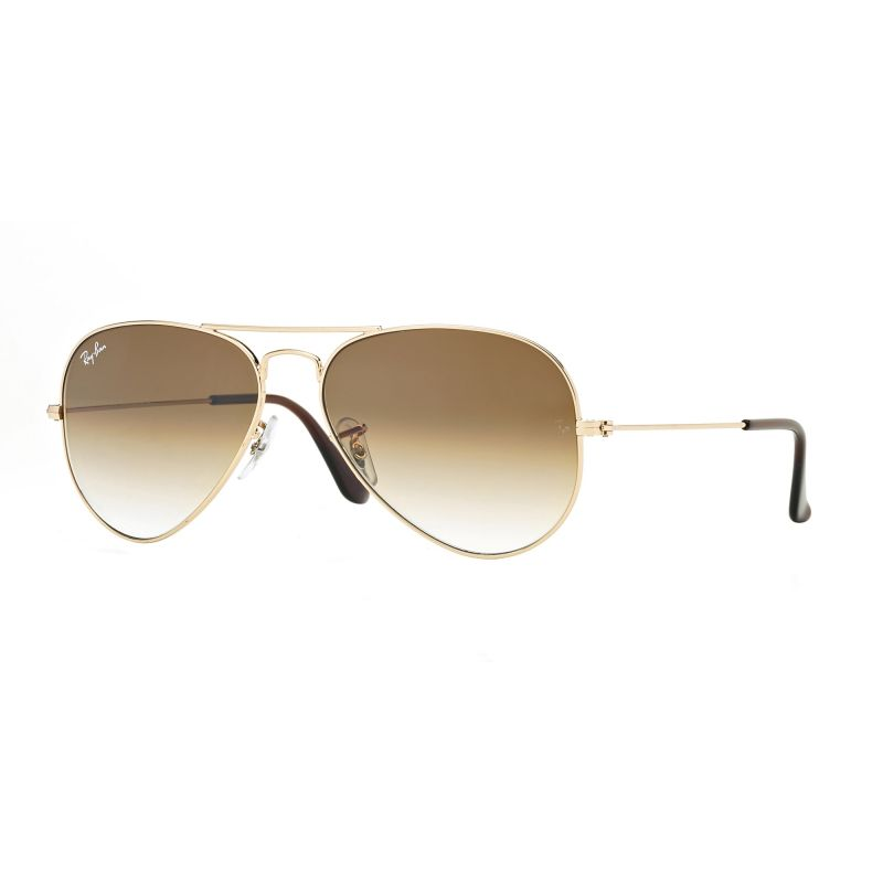 Mens Ray-Ban Aviator Gradient Sunglasses RB3025-001/51-55