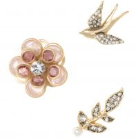 Ladies Lonna And Lilly Rose Gold Plated Earrings and Brooch Set 60460939-2GR