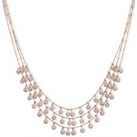Ladies Anne Klein Rose Gold Plated Triple Row Necklace 60458079-9DH