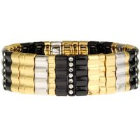 Ladies Nine West Multi colour gold Stretch Bracelet 60200114-Z01