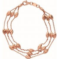Femmes Liens Of London Argent massif Essentials En perles 3 Row Bracelet Moyen