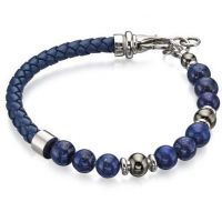 homme Fred Bennett & Blue Bead Bracelet Watch B4871