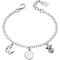 Kinder D For Diamant Sterlingsilber Anhänger Armband