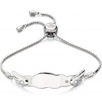 Kinder D For Diamant Sterlingsilber ID Armband