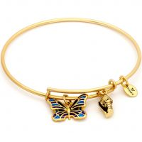 Ladies Chrysalis PVD Gold plated NATURE BUTTERFLY EXPANDABLE BANGLE