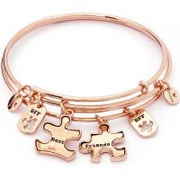 Damen Chrysalis PVD Rosa plating TWO OF A KIND BEST FRIENDS EXPANDABLE BANGLE
