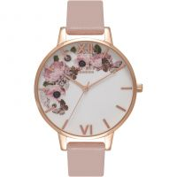 Damen Olivia Burton Vegan Friendly Floral Print Watch OB16VE04