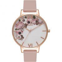 Damen Olivia Burton Vegan Friendly geblümt Print Uhren