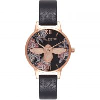 Ladies Olivia Burton Animal Motif 3D Bee Floral Midi Dial Watch
