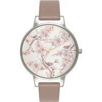 Damen Olivia Burton Parlour geblümt Print Uhren