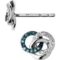 Damen Verbindungen Of London Sterlingsilber Treasured Diamant Stud Ohrringe
