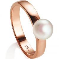 Ladies Jersey Pearl PVD rose plating Viva Ring Size N VIVALR-RG-N