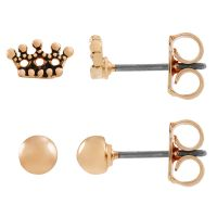 Ladies Juicy Couture Base metal Crown Expressions Stud Earring Set