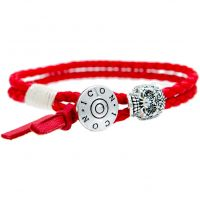 Mens Icon Brand Base metal Braided Bracelet LE1208-BR-RED