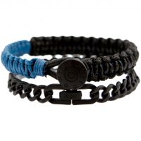 homme Icon Brand Jewellery Cord Bracelet Watch LE1214-BR-COM-BLU