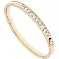 Ladies Ted Baker Gold Plated Clemara Hinge Crystal Bangle