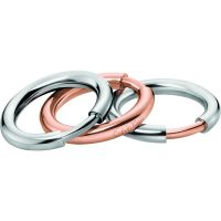 Ladies Calvin Klein Two-Tone Steel and Rose Plate Size N Disclose Ring Set Size N.5