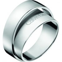 Ladies Calvin Klein Stainless Steel Size L Unite Ring Size L.5