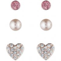 Ladies Lonna And Lilly Rose Gold Plated Trio Stud Earrings