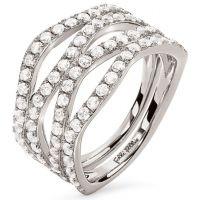 femme Folli Follie Jewellery Fashionably Silver Ring Size L.5 Watch 5045.6634