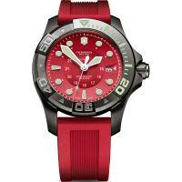 Herren Victorinox Schweizer Militär Tauchen Meister Herren Schwarz Ice Rot Dial & Uhren
