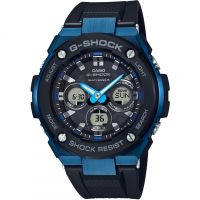 homme Casio G-Steel Midsize Alarm Chronograph Radio Controlled Tough Solar Watch GST-W300G-1A2ER