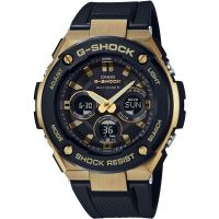 homme Casio G-Steel Midsize Alarm Chronograph Radio Controlled Tough Solar Watch GST-W300G-1A9ER