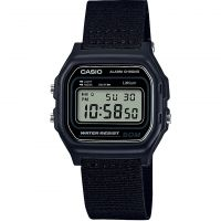 unisexe Casio Classic Collection Cloth Alarm Chronograph Watch W-59B-1AVEF