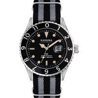 Herren Kahuna Black and Grey Nato Strap Watch KUS-0125G