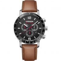 homme Wenger Roadster Black Night Chrono Chronograph Watch 011843104