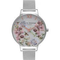 Damen Olivia Burton Parlour Floral Print Mesh Watch OB16PL34