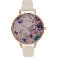 femme Olivia Burton Vegan Friendly Enchanted Garden Nude & Rose Gold Watch OB16VE07