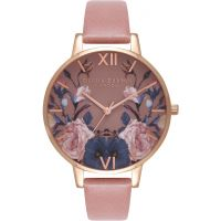 femme Olivia Burton Enchanted Garden Rose & Rose Gold Watch OB16EG74