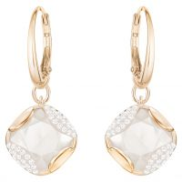 Ladies Swarovski Rose Gold Plated Heap Earrings