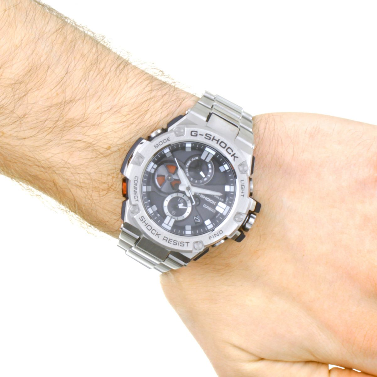 Gents Casio G-Steel Bluetooth Triple Connect Chronograph Watch (GST-B100D-1AER)