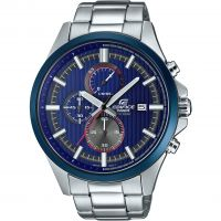 Mens Casio Edifice Racing Blue Series Chronograph Watch