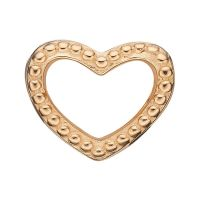 Ladies Christina Gold Plated Sterling Silver Heart Dots Bead Charm 623-G08