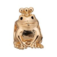 Ladies Christina Gold Plated Sterling Silver Topaz Frog Bead Charm 623-G65