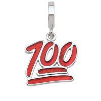 Ladies Persona Sterling Silver 100 Percent Emoji Bead Charm H14981P1
