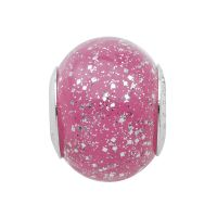 Ladies Persona Sterling Silver Glittering Pink Bead H12473PM