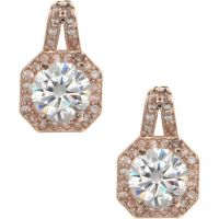 Ladies Anne Klein Rose Gold Plated Stunning Stones Earrings