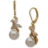 Ladies Anne Klein Gold Plated Stunning Stones Earrings 60466547-9DH