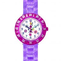 Kinder Flik Flak Purple Garden Watch FCSP060
