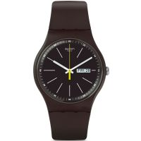 Unisex Swatch Blue Browny Watch SUOC704