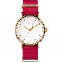 Timex Fairfield Crystal Bar Dameshorloge Rood TW2R48600