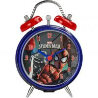 Childrens Character Marvel Spiderman Twin Bell Alarm Clock