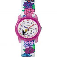 Timex Kids Analog x Peanuts Snoopy Flowers Watch