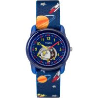 Timex Kids Analog x Peanuts Snoopy Out Of Space Kinderenhorloge Blauw TW2R41800